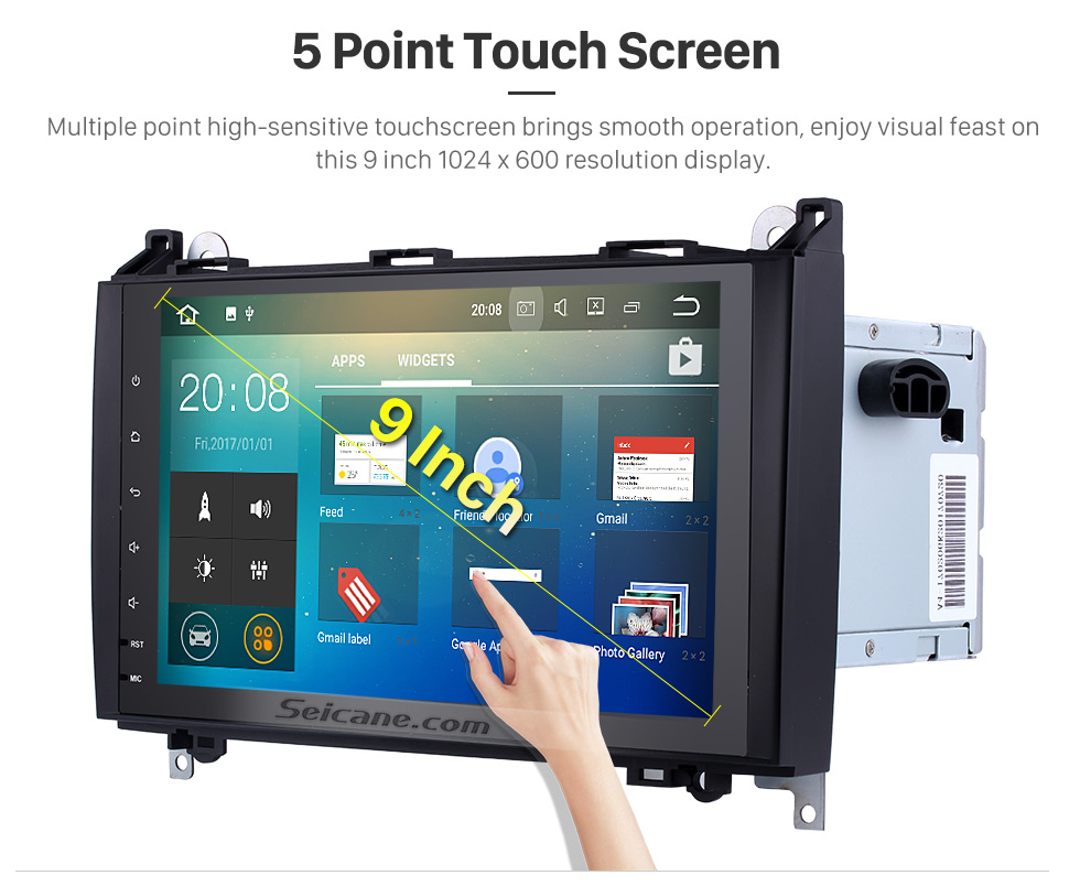 Seicane Android 7.1 9 inch Multi-touch Screen for 2004-2012 Mercedes Benz A Class W169 A150 A160 A170 Radio GPS Navigation Car Stereo with Bluetooth music  WiFi Mirror Link OBD2 USB SD