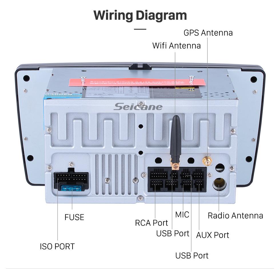 Seicane Android 9.0 Радио Система Навигации GPS для 2005-2008 2013-2016 SKODA OCTAVIA с DVD Плеер Bluetooth сенсорным дисплеем 3G WiFi Зеркальная Связь OBD2 видео DVR AUX Камера заднего вида