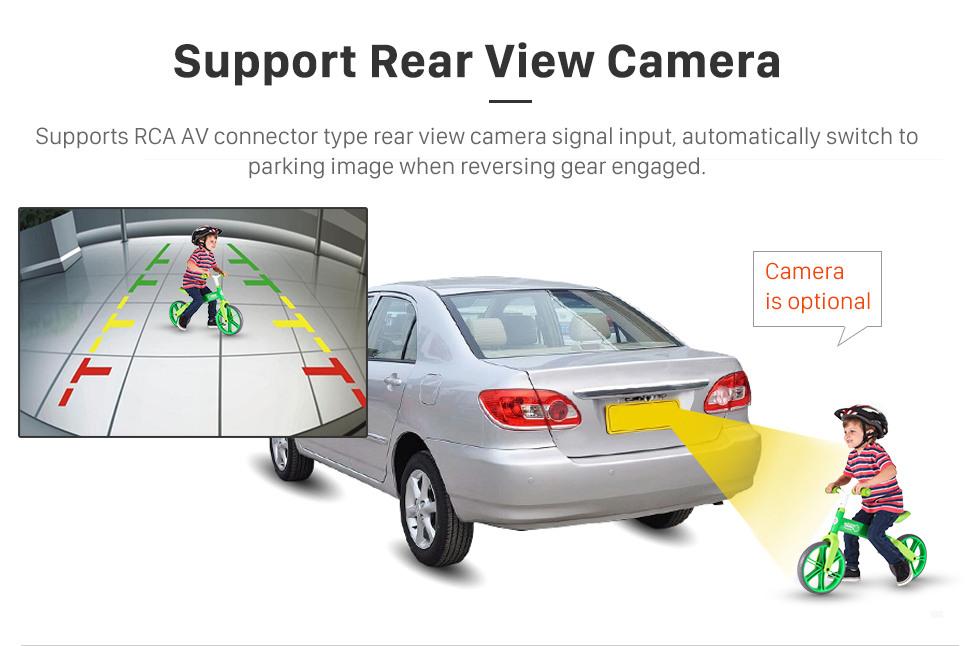 Seicane Android 9.0 Radio sistema de navegación GPS para 2005-2008 2013-2016 SKODA OCTAVIA con Reproductor DVD Bluetooth Pantalla táctil 3G WiFi Vínculo espejo OBD2 Vídeo DVR AUX Cámara de vista trasera