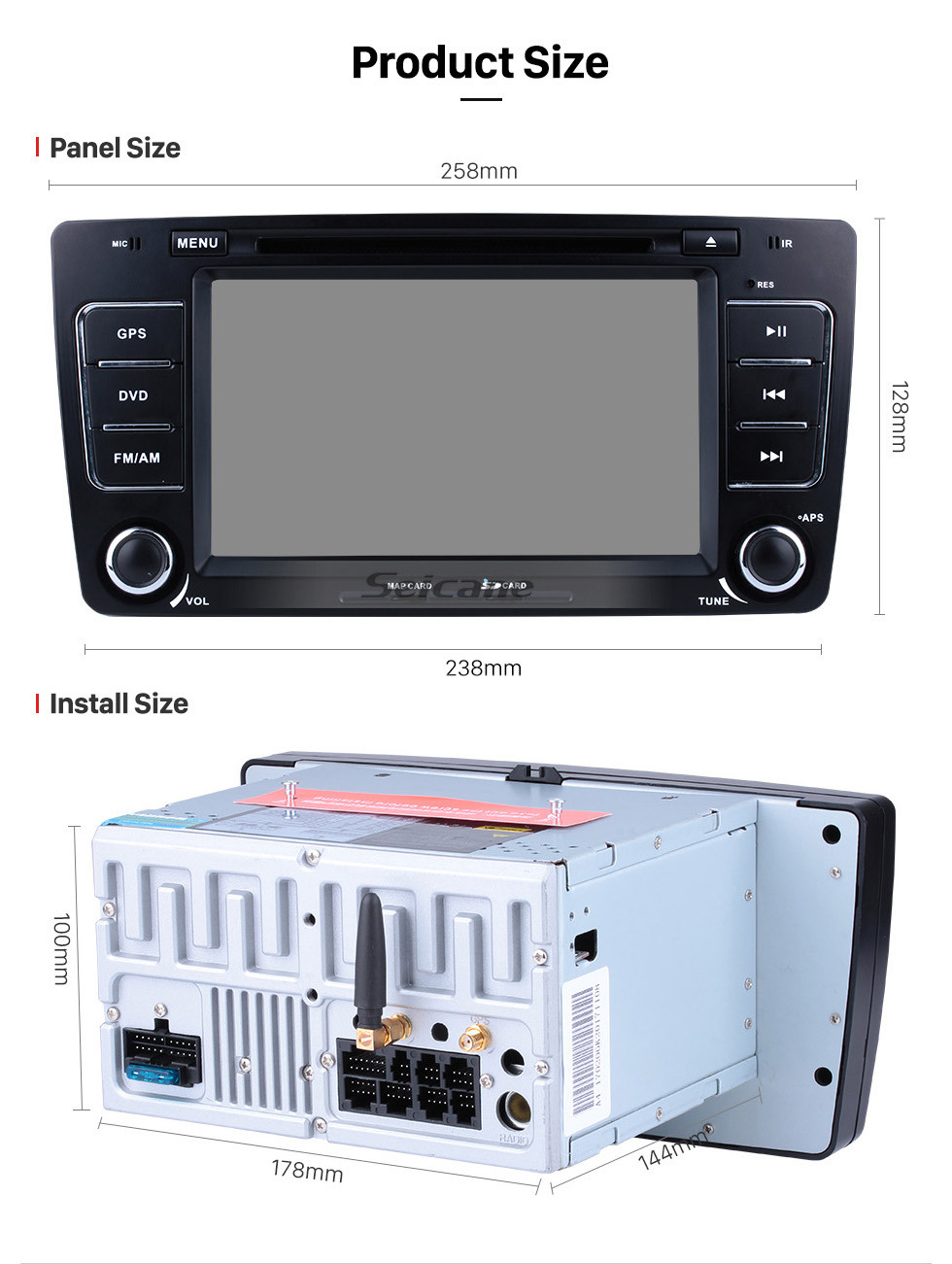 Seicane HD 1024*600 Android 9.0 2009-2013 Skoda Octavia Radio Upgrade with in Car Sat Nav Stereo Multi-touch Capacitive Screen 3G WiFi Bluetooth Mirror Link OBD2 AUX MP3 Steering Wheel Control HD 1080P