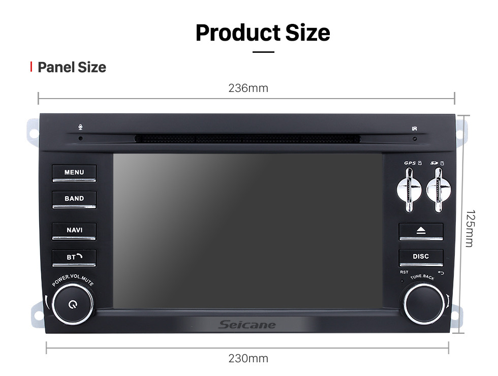 Seicane 2003-2011 Porsche Cayenne Android 9.0 Radio GPS DVD player navigation system with Bluetooth HD 1024*600 touch screen OBD2 DVR Rearview camera TV 1080P Video WIFI Steering Wheel Control USB Mirror link