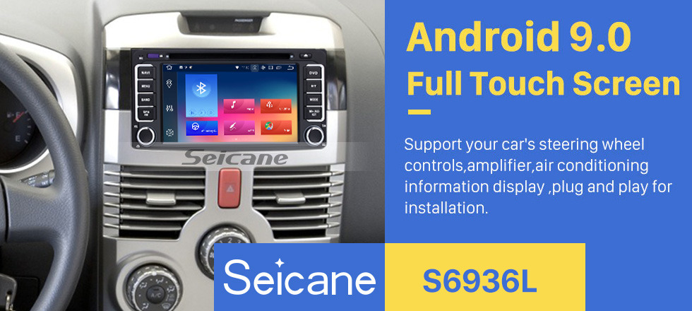 Seicane Double Din Android 9.0 In Dash Navigation DVD Player 1996-2009 Toyota Prado with Radio Auto A/V 4G WiFi Bluetooth AUX Mirror Link OBD2 Rearview Camera
