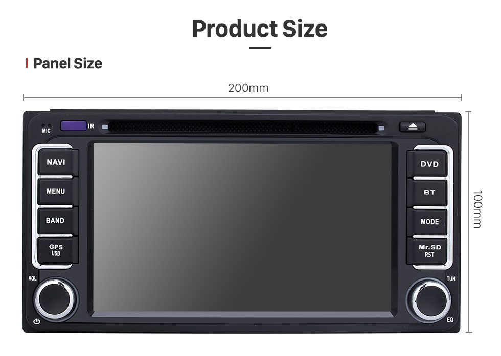 Seicane Android 9.0 2 Din Radio GPS Navigation DVD Player for 2016 2017 2018 Toyota Corolla Auris Fortuner Estima vios Innova with Bluetooth Music USB SD WIFI Aux Steering Wheel Control