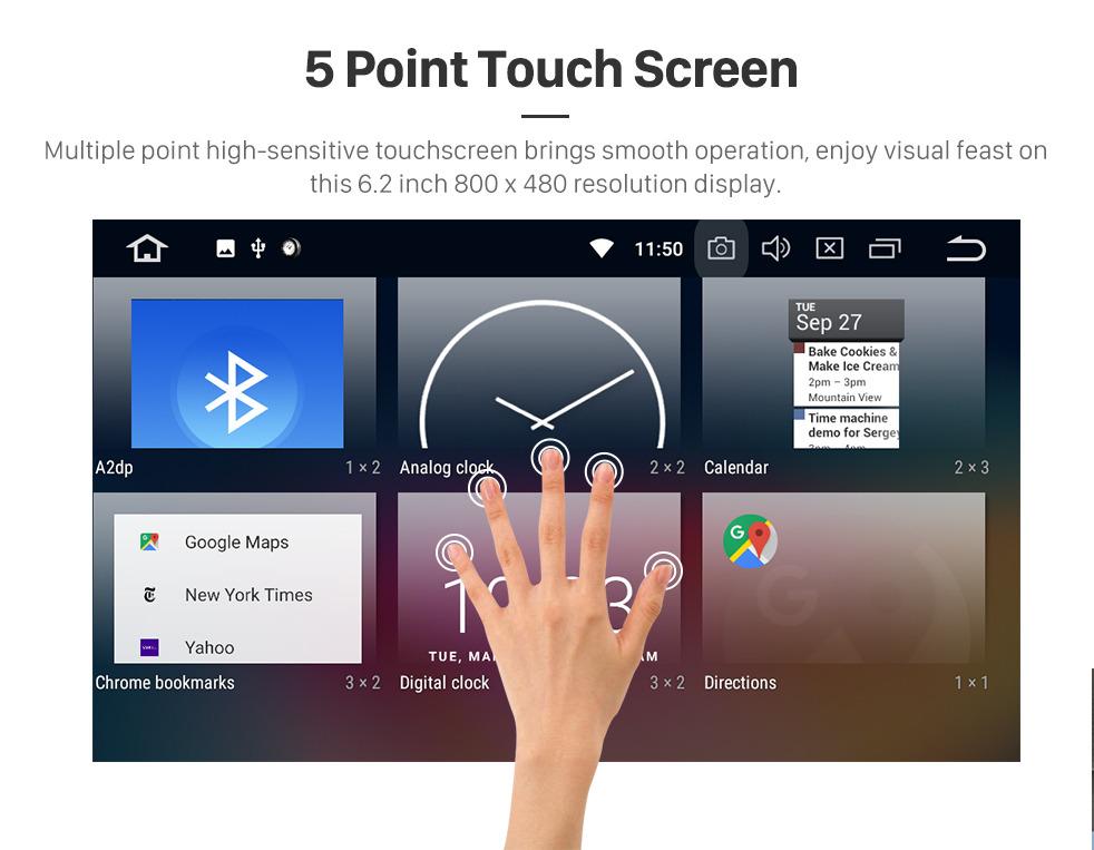 Seicane Android 9.0 2 Din Radio Navigation GPS Lecteur DVD pour 2016 2017 2018 Toyota Corolla Auris Fortuner Estima Innova avec Bluetooth Musique USB SD WIFI Aux Volant Contrôle