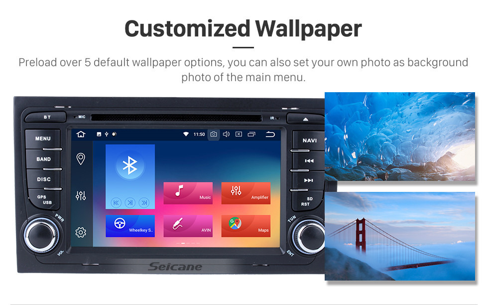 Seicane Android 9.0 Car GPS Navigation HD Touchscreen for 2013 2014 2015 SEAT EXEO with WIFI OBD2 USB Bluetooth Music Rearview Camera DVR Mirror Link Steering wheel control