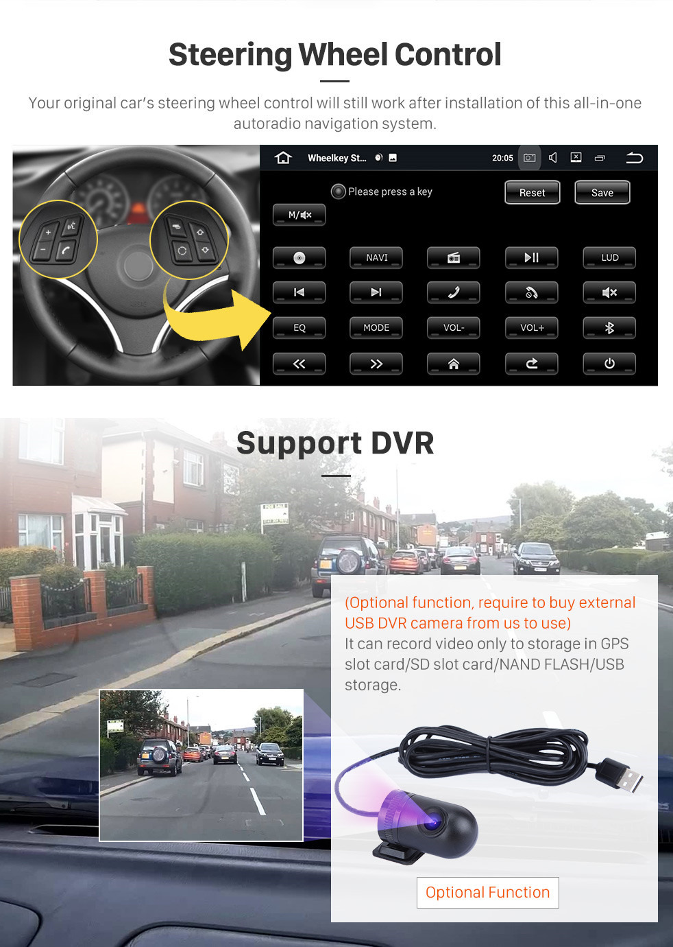 Seicane Double Din Pure Android 9.0 2006-2013 Audi TT MK2 GPS DVD In Dash Radio System with Bluetooth Radio RDS 4G WiFi Mirror Link OBD2 HD 1024*600 Multi-touch Screen Backup Camera