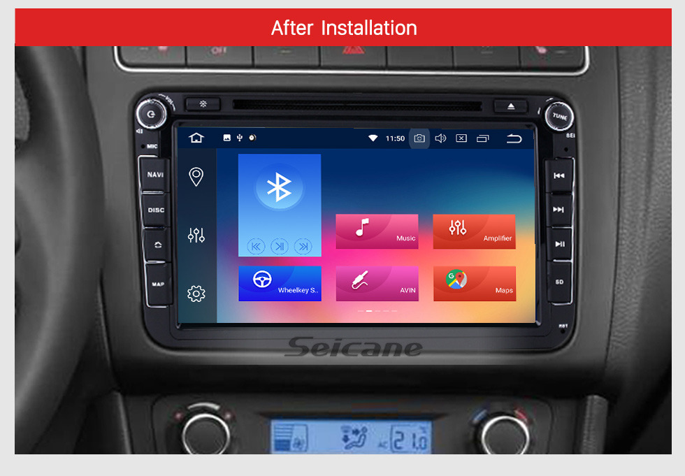 Seicane 8 inch HD Touchscreen DVD Player for 2006-2012 VW VOLKSWAGEN MAGOTAN with Android 9.0 Radio GPS Navigation USB WIFI Bluetooth Music Audio system Mirror Link 1080P Steering wheel control