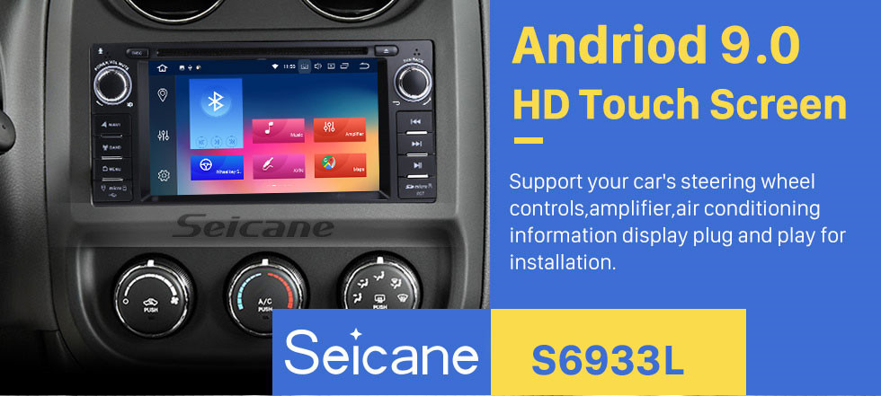 Seicane Android 9.0 Aftermarket OEM GPS DVD Player for 2008-2012 Jeep Grand Cherokee 3G WiFi Bluetooth Radio Tuner 1080P AUX USB SD