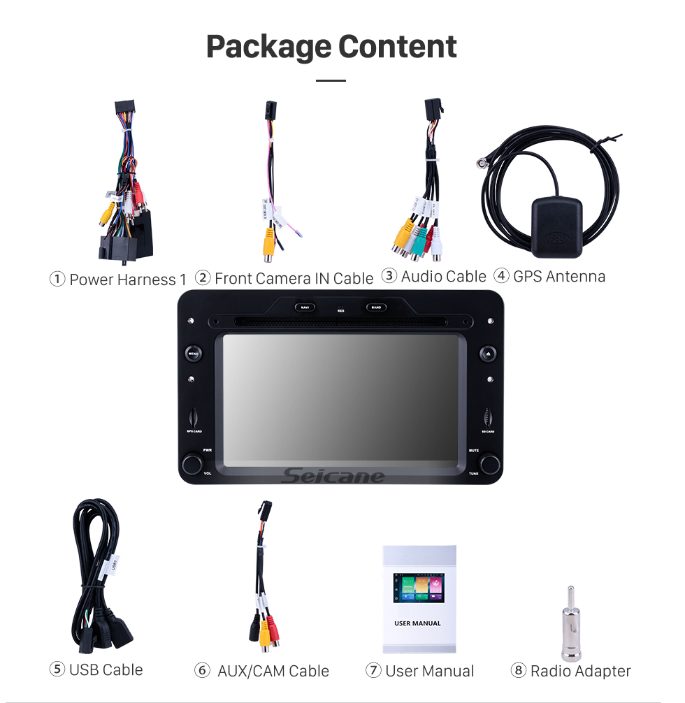 Seicane Android 9.0 GPS Navigation Car Audio System For 2006 onwards Alfa Romeo Brera Radio with HD Touch Screen CD DVD Player Mirror Link Steering Wheel Control OBD2 3G WiFi AUX