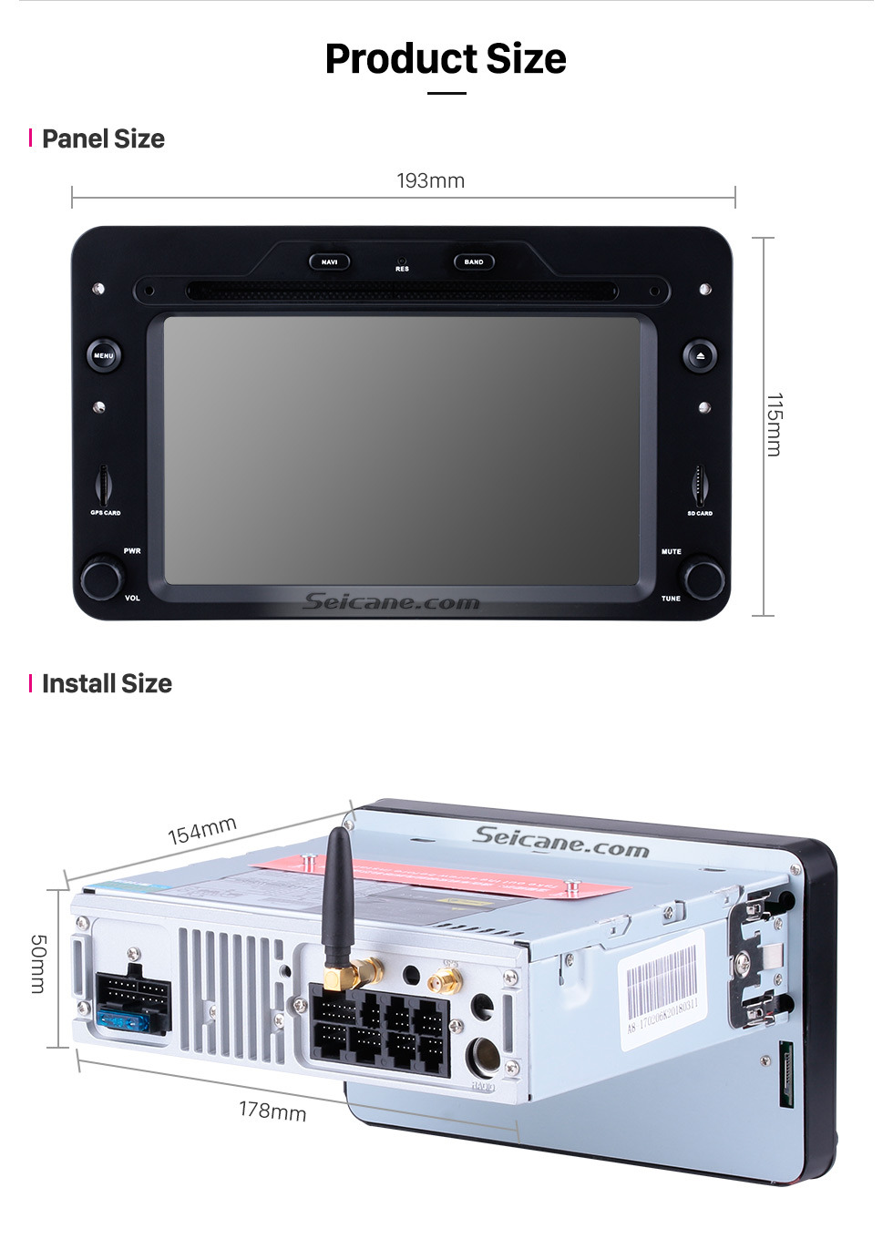Seicane Android 9.0 radio DVD Player GPS navigation System for 2006 onwards Alfa Romeo Spider with Touch Screen Bluetooth Music Mirror Link OBD2 3G WiFi AUX Steering Wheel Control Backup Camera