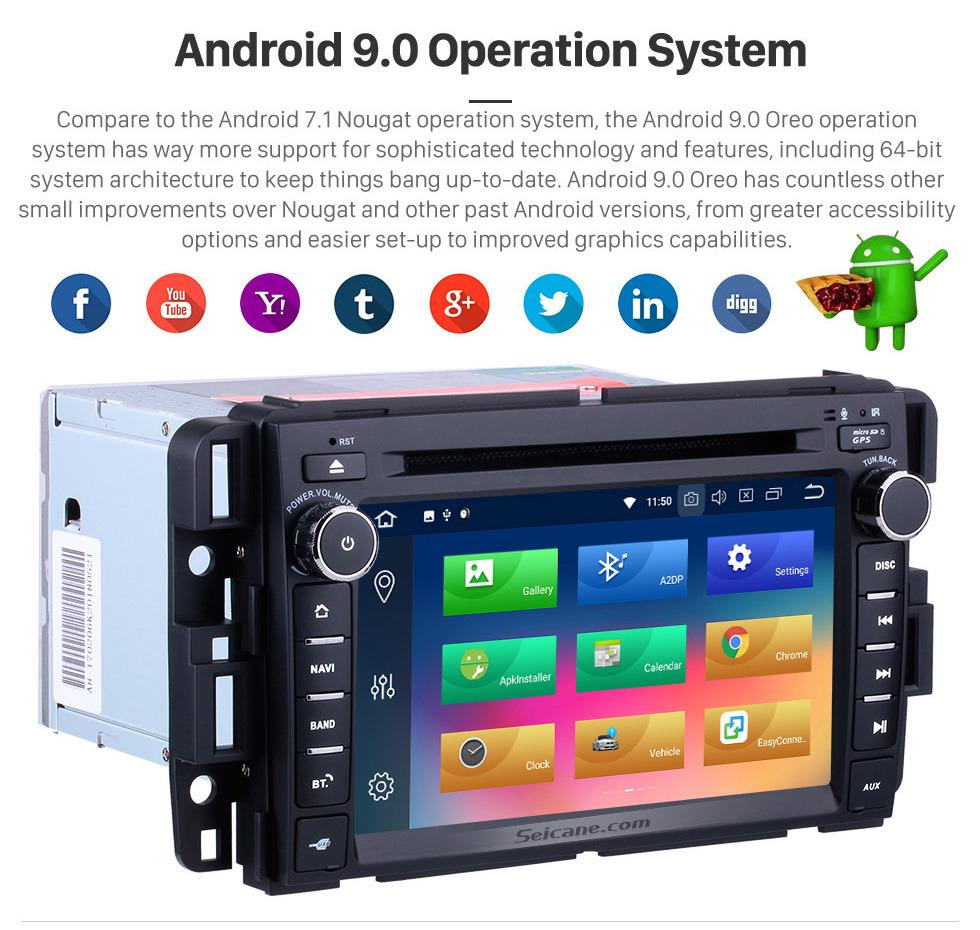 Seicane Android 9.0 Auto Stereo GPS Navigation Bluetooth für 2007-2012 General GMC  Yukon Acadia mit Radio DVD player 1080P Video 3G WIFI USB SD Rückfahrkamera TV-Tuner DVR