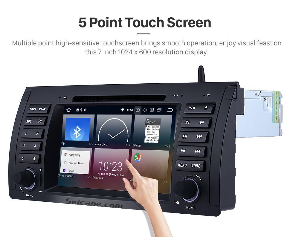 Seicane Android 8.0 Car DVD player for BMW 5 Series E39 with GPS Radio TV Bluetooth