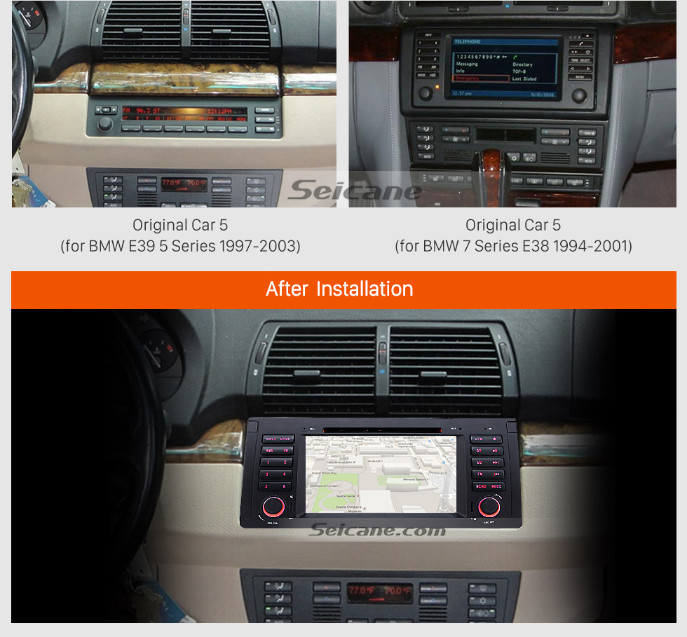 Seicane Android 8.0 Car DVD player for BMW M5 with GPS Radio TV Bluetooth