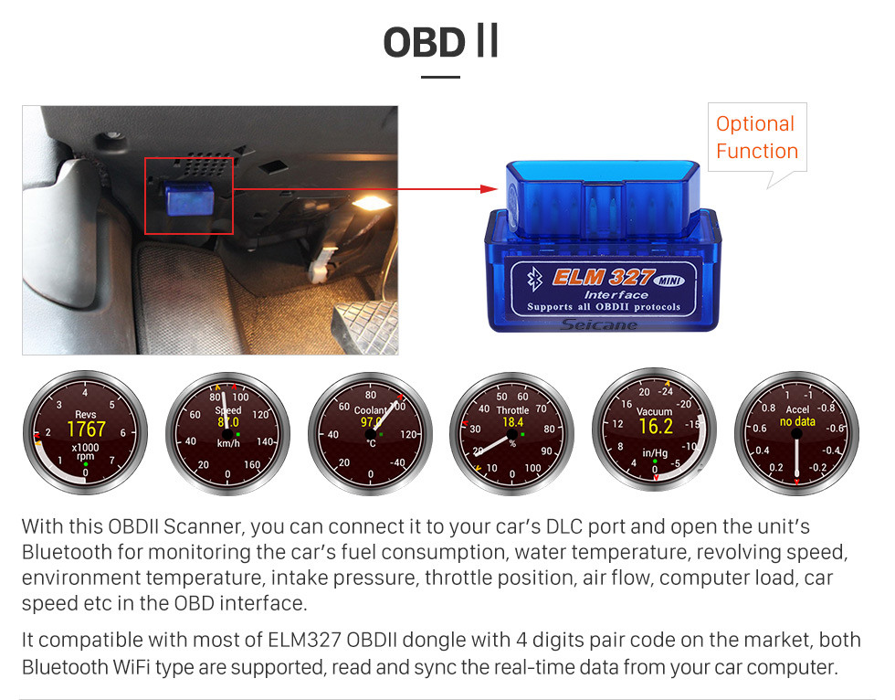Seicane 1998-2005 Mercedes Benz S Class W220 S280 S320 S400 Android 9.0 DVD GPS Car A/V System with 3G WiFi Radio RDS Bluetooth Mirror Link OBD2 HD 1024*600 Multi-touch Screen