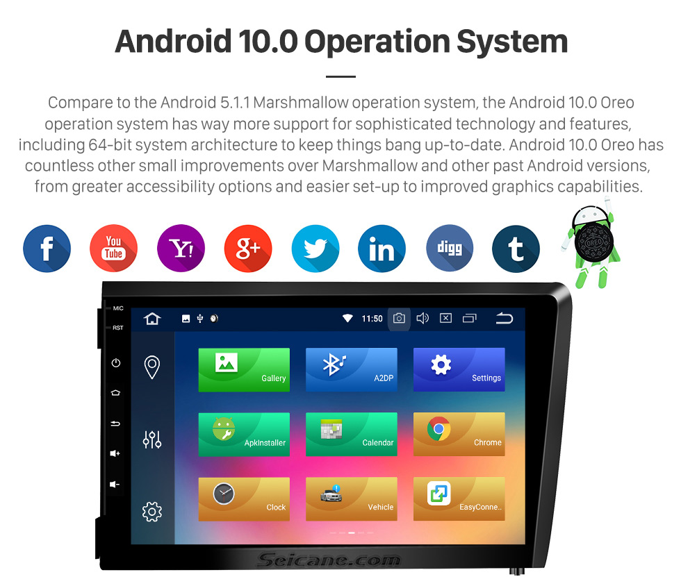 Seicane 2000-2004 VOLVO S60 V70 XC70 Android 9.0 HD Touchscreen DVD Spieler Radio Bluetooth GPS-Navigationssystem 3G Wlan Video Spiegel-Verbindung Backup Kamera AUX USB SD