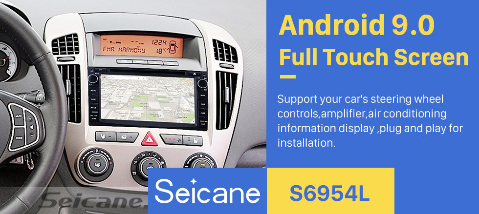 Seicane Android 9.0 GPS Navigation Car stereo Audio System for 2010-2012 KIA CEED with Touch Screen radio DVD Player Bluetooth Music 3G WiFi Mirror Link OBD2 Backup Camera Steering Wheel Control
