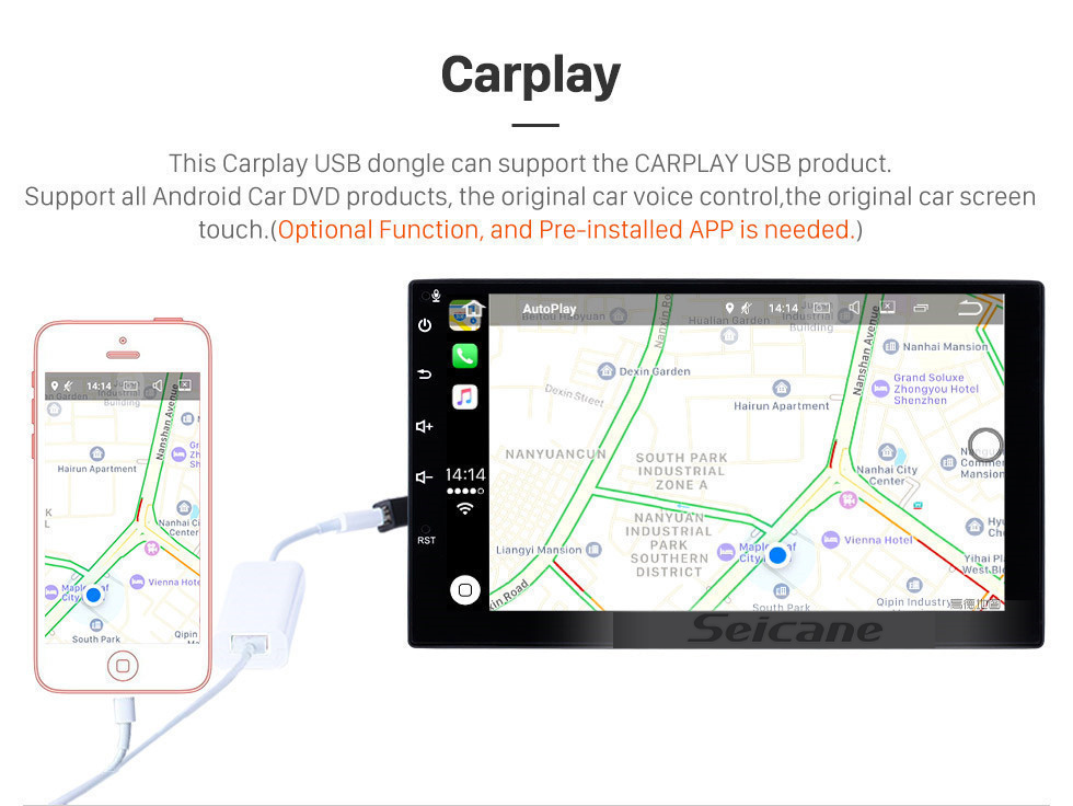 Seicane  venda quente 2005 2006 2007 Ford Galaxy Android 9.0 unidade principal Rádio GPS Sistema de Navegação HD 1024*600 Ecrã Tátil OBD2 DVR Retrovisor Câmera TV 1080P Vídeo 4G WIFI Controle de volante Bluetooth USB