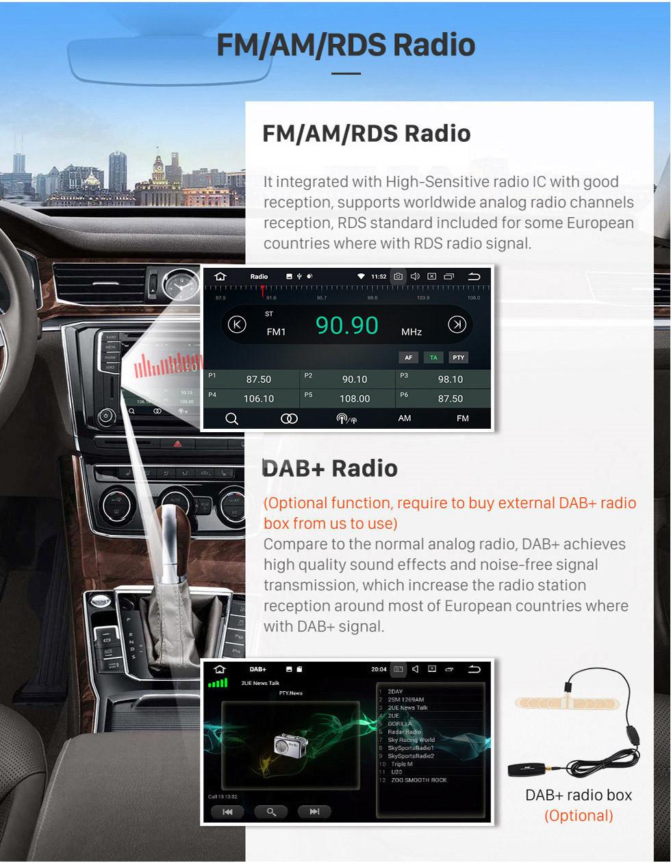 Seicane Android 9.0 HD-Touchscreen 1024 * 600 2004-2012 BMW 1er E81 E82 116i 118i 120i 130i mit Bluetooth Radio-DVD-Navigationssystem AUX WIFI Spiegel Verknüpfung OBD2
