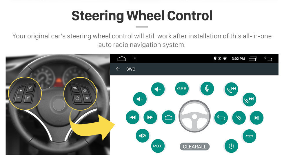 Seicane Android 10.0 In Dash Car DVD GPS System for 2004-2007 Mercedes Benz C Class W203 C180 C200 C220 C230 with 3G WiFi AM FM Radio Bluetooth Mirror Link OBD2 AUX DVR