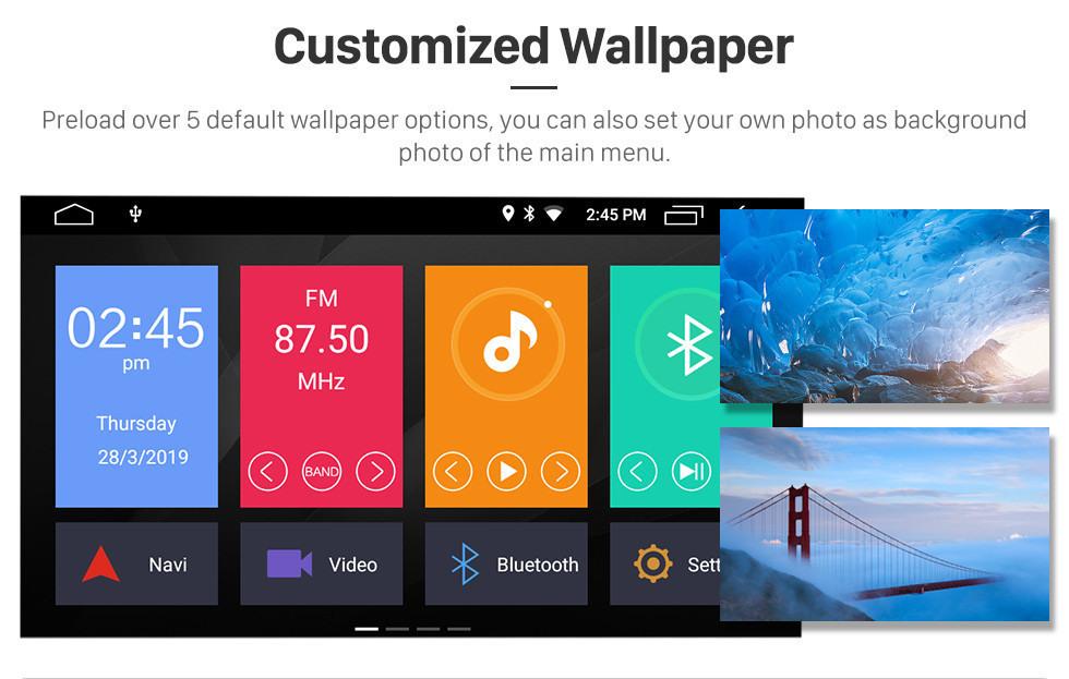 Seicane OEM Android 10.0 2006-2013 Audi Audi Radio Замена с HD 1024 * 600 Мультитач емкостный экран Sat Nav Автомобильная аудиосистема 4G Wi-Fi Bluetooth музыкальный CD DVD-плеер AUX HD 1080P Камера резервного копирования видео