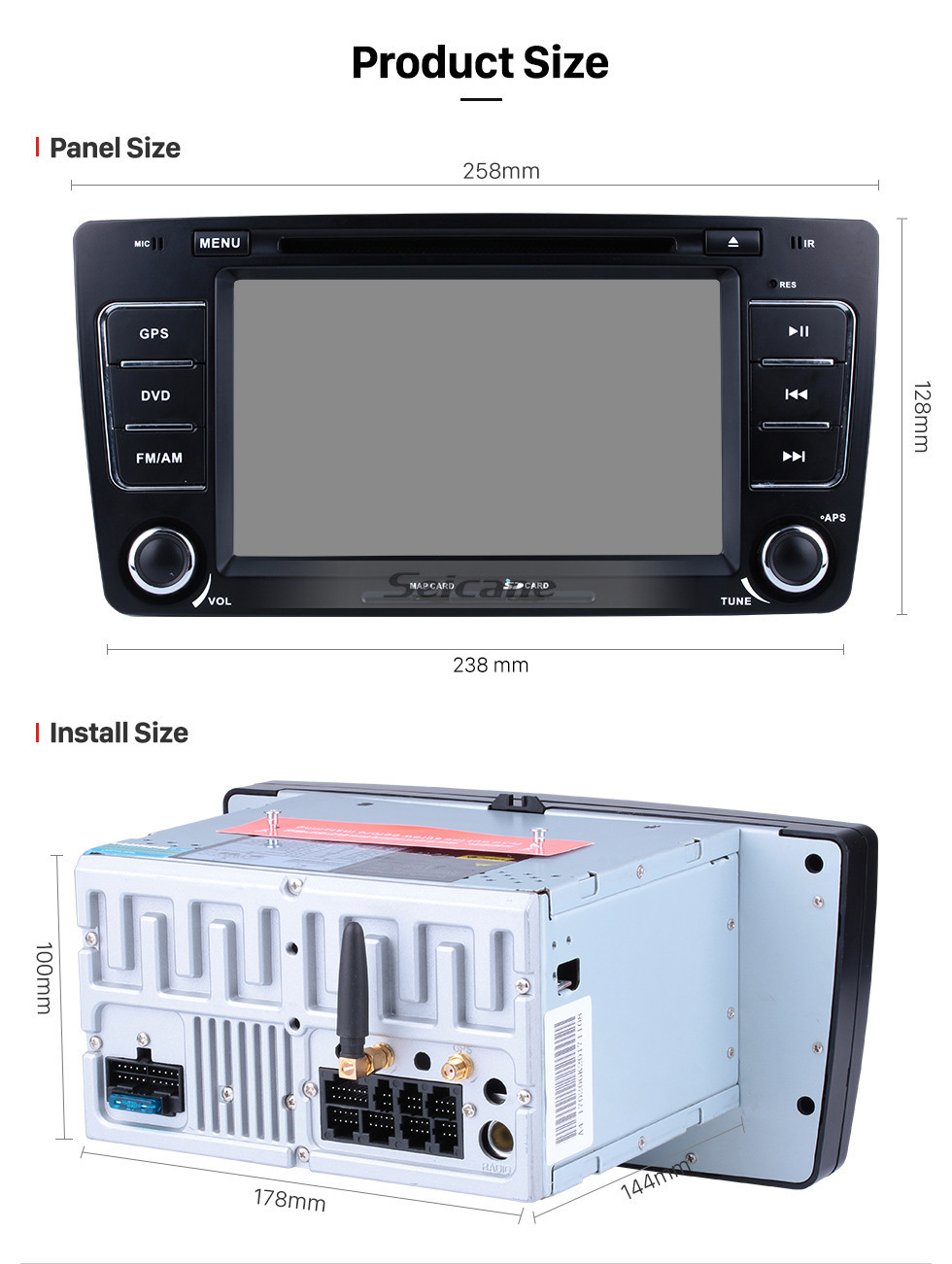 Seicane OEM Android 10.0 Multi-touch GPS Sound System Upgrade for 2011 2012 2013 Skoda Octavia with Radio Tuner DVD 3G WiFi Mirror Link Bluetooth AUX OBD2