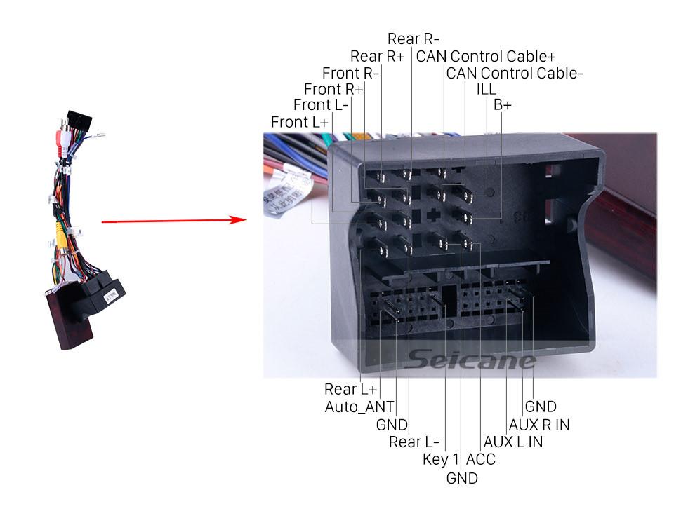 Seicane 2005 Ford Fiesta param Android 9.0 Reposição Rádio GPS Sistema de Navegação com leitor de DVD Bluetooth HD 1024*600 Ecrã Tátil OBD2 DVR Retrovisor Câmera TV 1080P Vídeo 4G WIFI Controle de volante USB