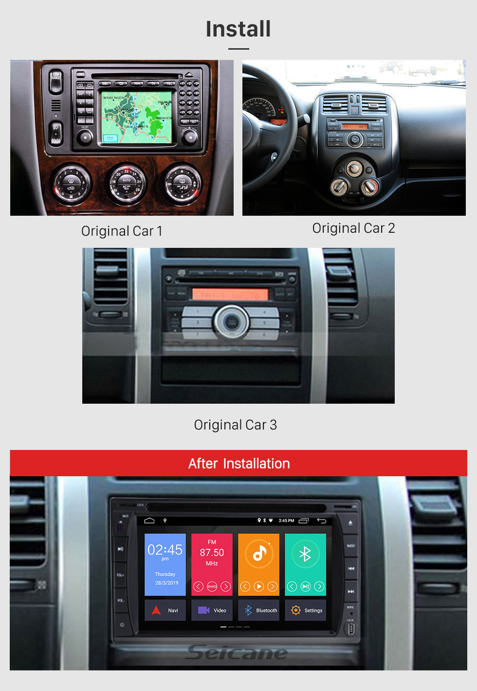 Seicane 6.2 inch GPS Navigation Universal Radio Android 10.0 Bluetooth HD Touchscreen AUX Music support 1080P Digital TV TPMS Carplay