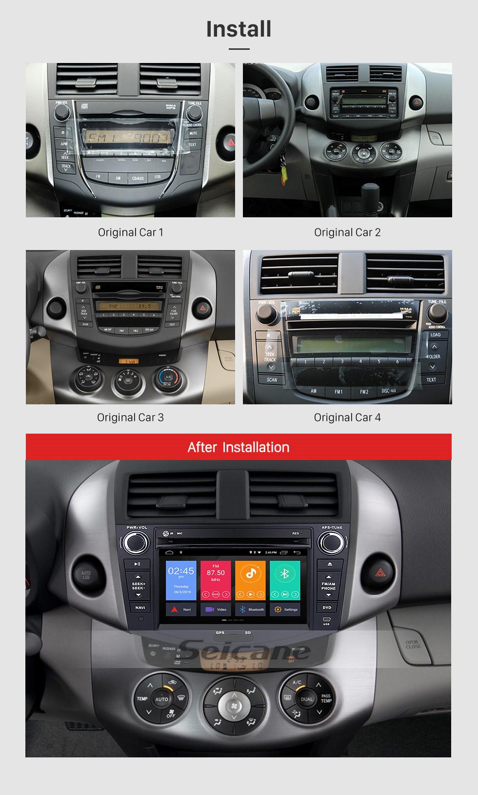 Seicane Android 10.0 2006-2012 Toyota Rav4 Radio DVD Audio 3D GPS System TV Tuner WiFi 3G Bluetooth Steering Wheel Control DVR AUX HD 1080P Backup Camera