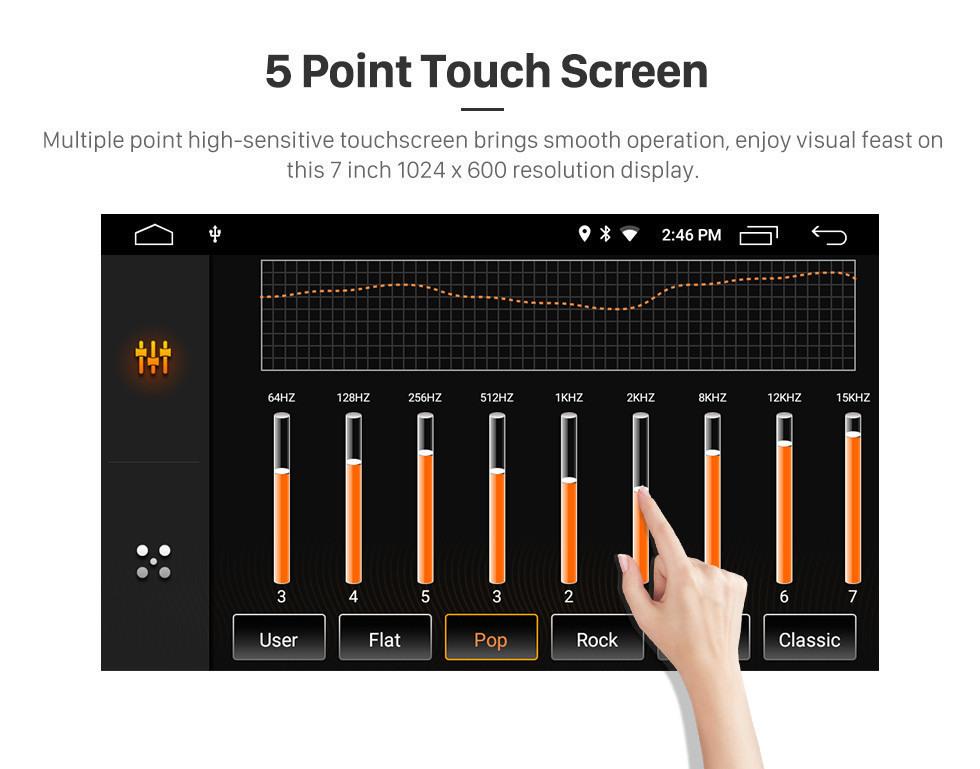 Seicane 7 polegadas Android 10.0 Rádio de navegação GPS para 2007-2012 Land Rover / Freelander 2 Bluetooth Wifi HD Tela sensível ao toque Música Suporte USB 1080P Carplay de vídeo TV digital