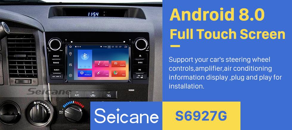 Seicane Сенсорный экран HD 7 дюймов Android 9.0 для 2008-2015 Toyota Sequoia / 2006-2013 Tundra Radio GPS навигационная система с поддержкой Bluetooth Резервная камера Carplay