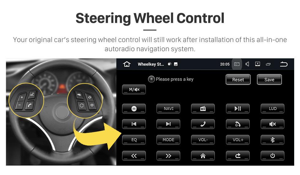 Seicane 7 polegadas Android 9.0 Navegação GPS Rádio para 2007-2012 Land Rover / Freelander 2 com HD Touchscreen Bluetooth WIFI apoio LinkMirror OBD2 SWC Carplay