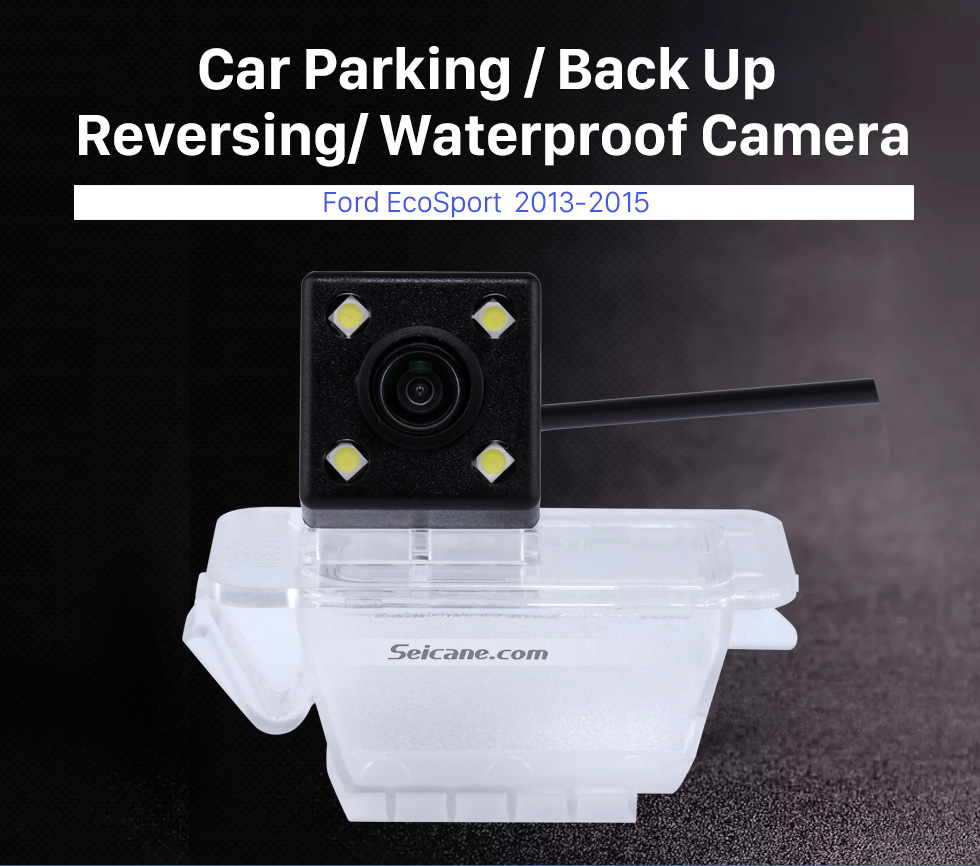 Seicane 170 Degree Wide Angle Vision Waterproof Reverse Sensor Car Parking RearView Backup Camera for 2013-2015 Ford Ecosport
