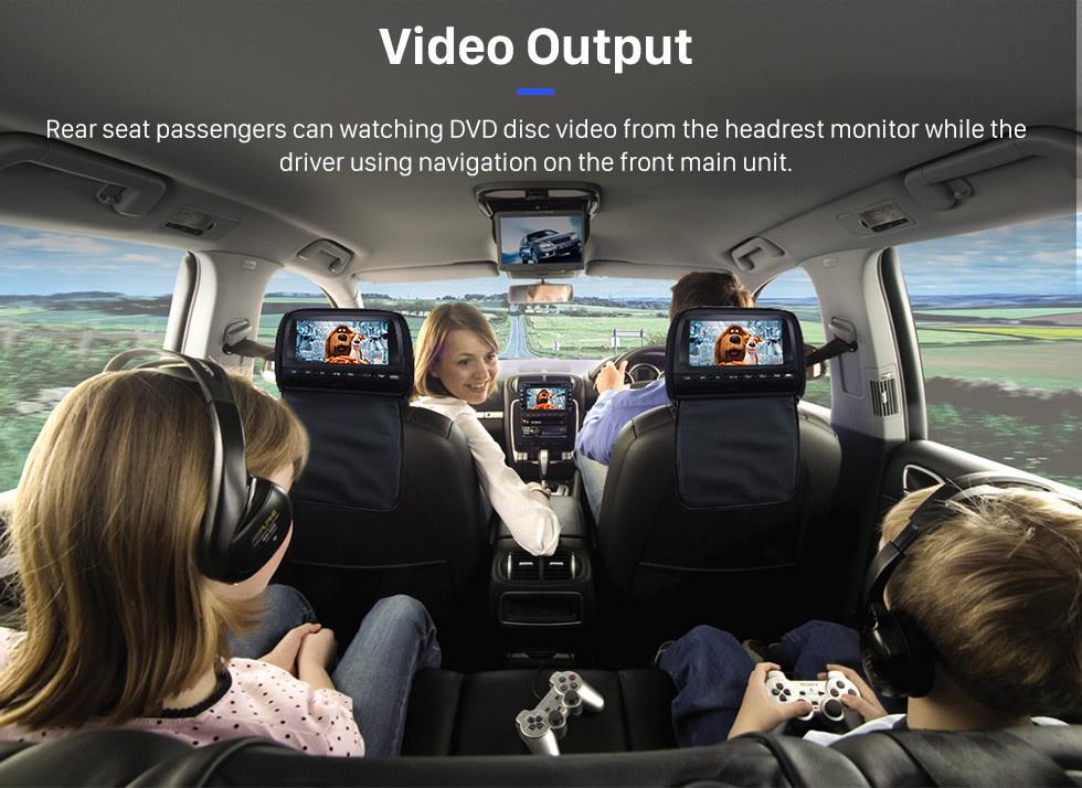 Seicane 7 pouces HD écran tactile 2 Din Universal Radio Lecteur DVD GPS Navigation Stéréo pour voiture pour VW VOLKSWAGEN Bluetooth Téléphone USB SD Lecteur multimédia Support Aux IPOD Digital TV RDS