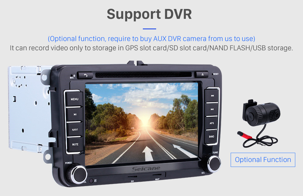 Seicane Aftermarket Radio DVD Player For 2011 2012 2013 VW Volkswagen Lavida New Beetle 2 GPS Navigation System Bluetooth MP3 Support Rearview Camera AUX 1080P Video