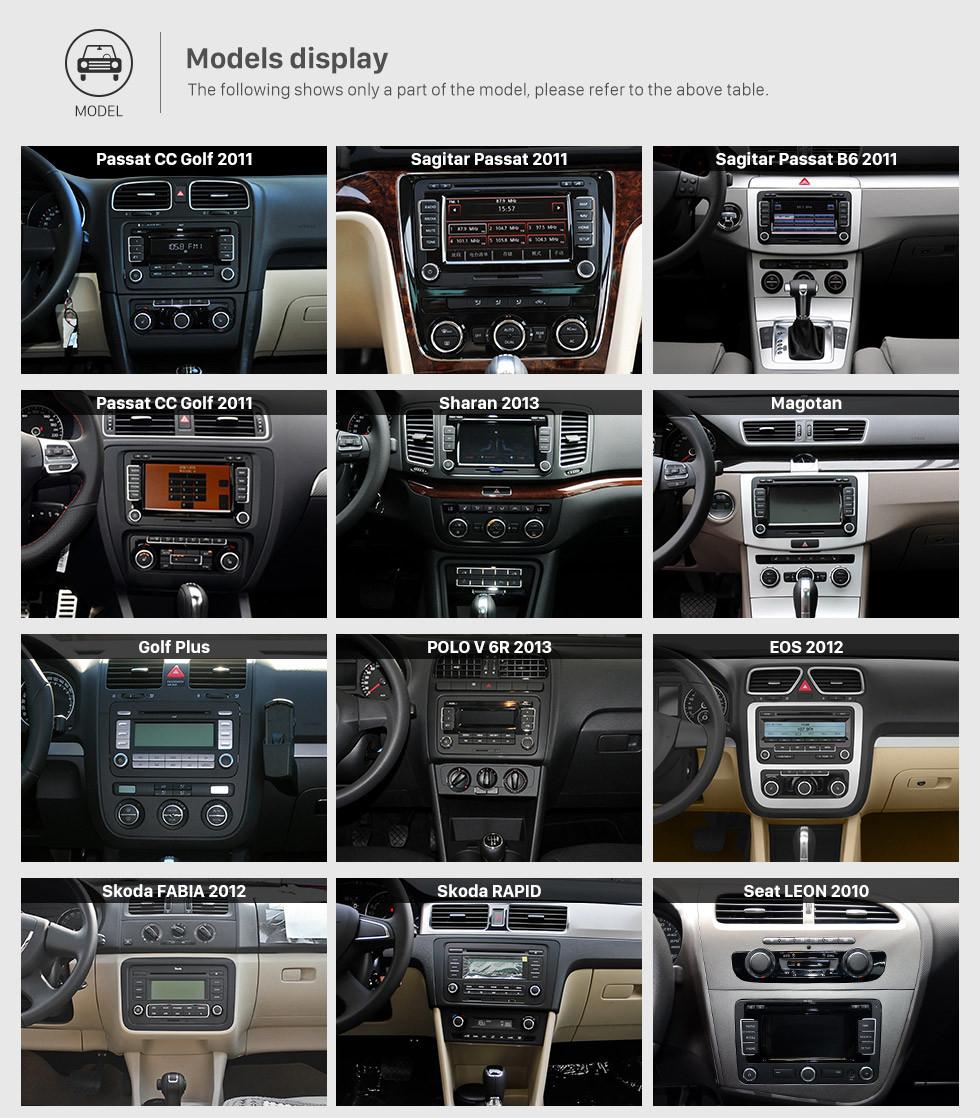 Seicane Doble Din DVD Player Navegación GPS para 2003-2011 VW Volkswagen Golf Plus Passat B6 Radio Teléfono Bluetooth Car Stereo Support AUX DVR Control del volante