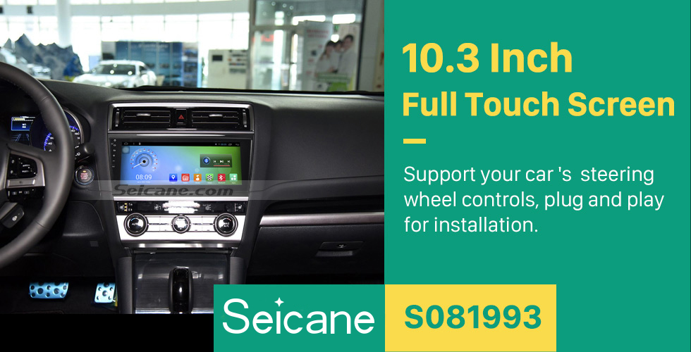 Seicane 10.3 Inch HD 1024*600 Android 6.0 2017 Subaru Legacy OUTBACK Radio Bluetooth GPS Navigation Car Stereo with 1080P Video Radio Receiver Mirror Link TPMS 3G Wifi Steering Wheel Control