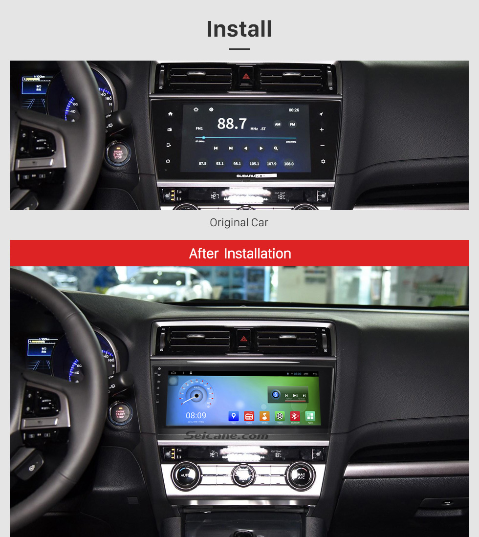 Quad Core 1.6GHz Cortex A9 CPU 10.3 Inch HD 1024*600 Android 6.0 2017 Subaru Legacy OUTBACK Radio Bluetooth GPS Navigation Car Stereo with 1080P Video Radio Receiver Mirror Link TPMS 3G Wifi Steering Wheel Control