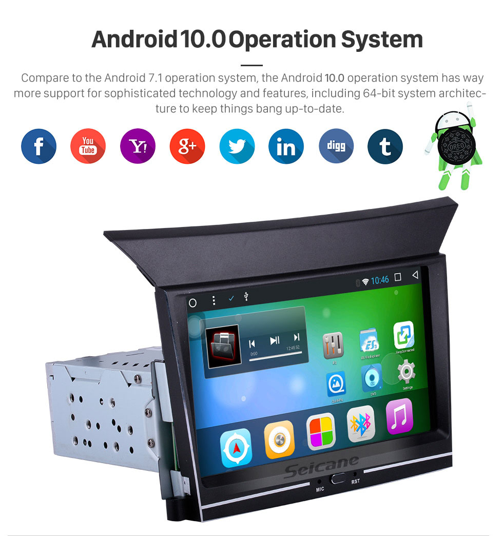 Seicane 7 inch 1024*600 Touch Screen 2009 2010 2012 2013 HONDA PILOT Android 8.1 GPS Navigation System With 3G Wifi Bluetooth TPMS DVR OBDII Rear Camera AUX Steering Wheel Control Mirror Link 1080P