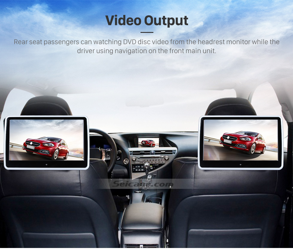 Seicane Aftermarket Android 7.1 Touch Screen GPS Navigation system for 2015 Mitsubishi sport L200 Bluetooth Radio TPMS DVR OBD II Rear camera AUX Headrest Monitor Control USB SD HD 1080P Video 3G WiFi