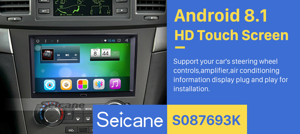 Seicane 9 Inch Android 8.1 GPS Navigation System for 2006-2011 Chevy Chevrolet EPICA/CAPTIVA with 1080P Capacitive Touch Screen 3G Wifi TPMS DVR OBD2 Rear Camera AUX Steering Wheel Control USB Bluetooth Mirror Link
