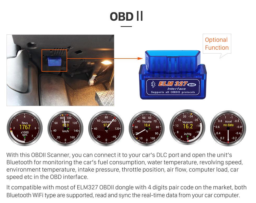 Seicane HD 1024*600 Android 8.1 2005-2011 Kia Rio Bluetooth Radio GPS System Car Stereo with 1080P Video DVR Autoradio Mirror Link OBDII TPMS Steering Wheel Control USB SD AUX