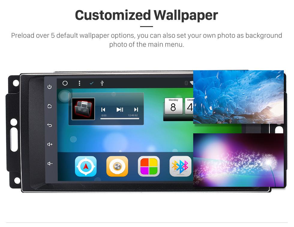 Seicane HD 1024 * 600 Rádio Touchscreen para 2009 2010 2011 Jeep Compass com Android 8.1 Sistema de navegação GPS Leitor de DVD Bluetooth MP3 LinkMirror WIFI 1080P Vídeo Controle de volante