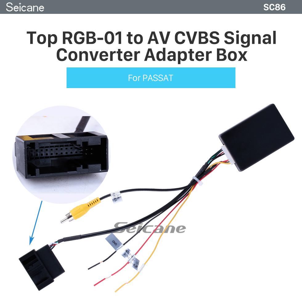 Car Backup Camera Rearview RGB To AV Converter Adapter Box For VW Volkswagen New