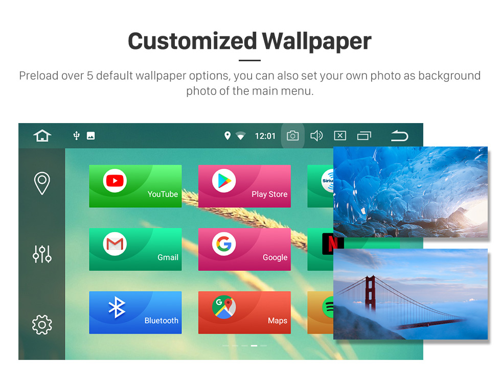 Seicane 10,1 polegadas OEM Android 8.0 sistema de navegação GPS de rádio para 2013 2014 2015 VW Volkswagen GOLF 7 Bluetooth HD tela de toque WiFi música SWC TPMS DVR OBD II câmera traseira AUX 1080P Vídeo USB Carplay