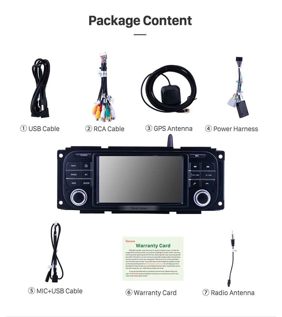 Seicane For 2004-2008 Chrysler 300C Radio Android 10.0 GPS Navigation System with Bluetooth HD Touchscreen Carplay support Digital TV