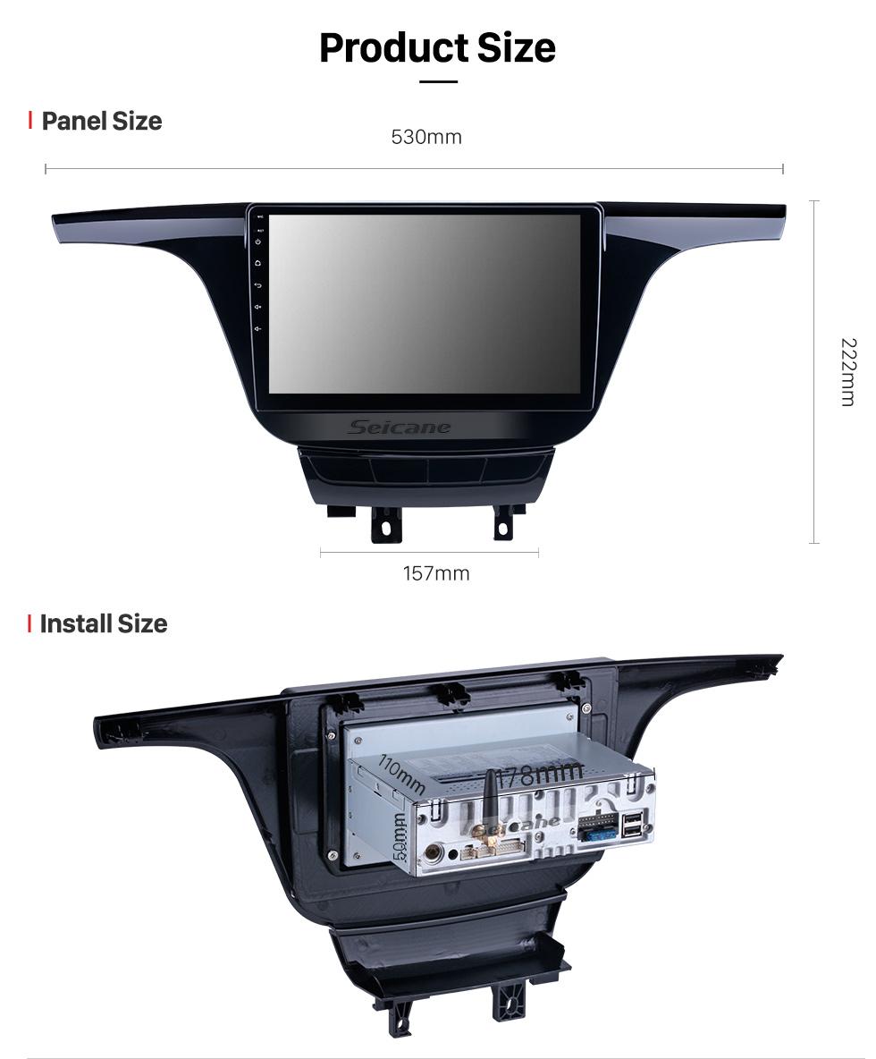Seicane HD сенсорный экран для Honda Elysion Radio 2018 Android 10.0 9-дюймовый GPS навигационная система Bluetooth Поддержка Carplay TPMS 1080P Видео