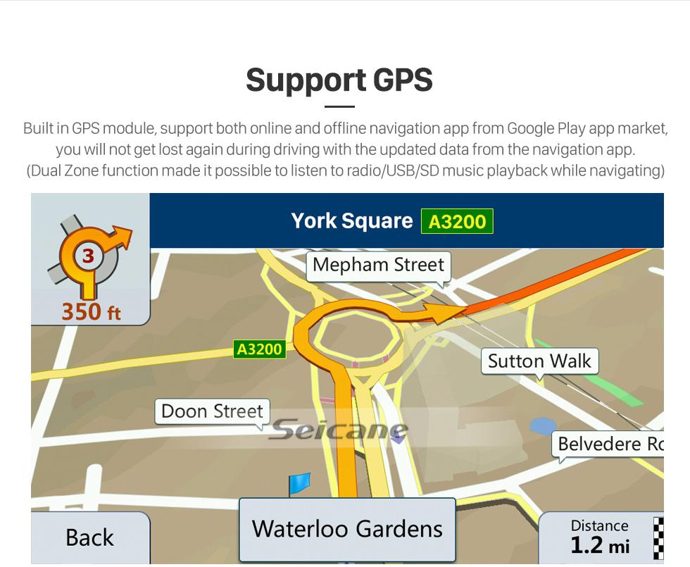 Seicane Écran tactile HD pour 2018 Honda Elysion Radio Android 10.0 9 pouces Système de navigation GPS Bluetooth Carplay supporte TPMS 1080P Vidéo