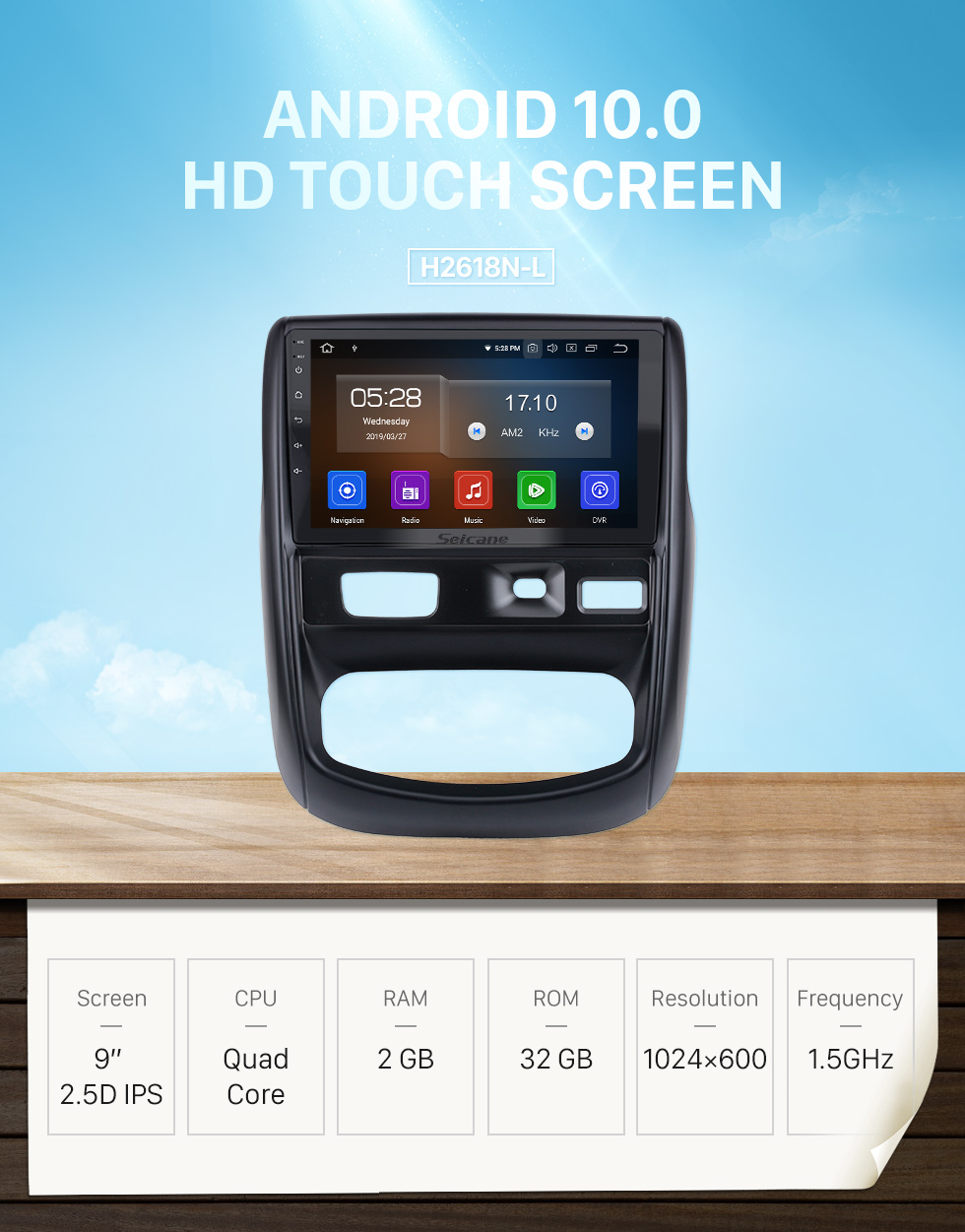 Seicane 9 inch Android 10.0 For 2012 Renault Duste Radio GPS Navigation System with HD Touchscreen Bluetooth Carplay support OBD2