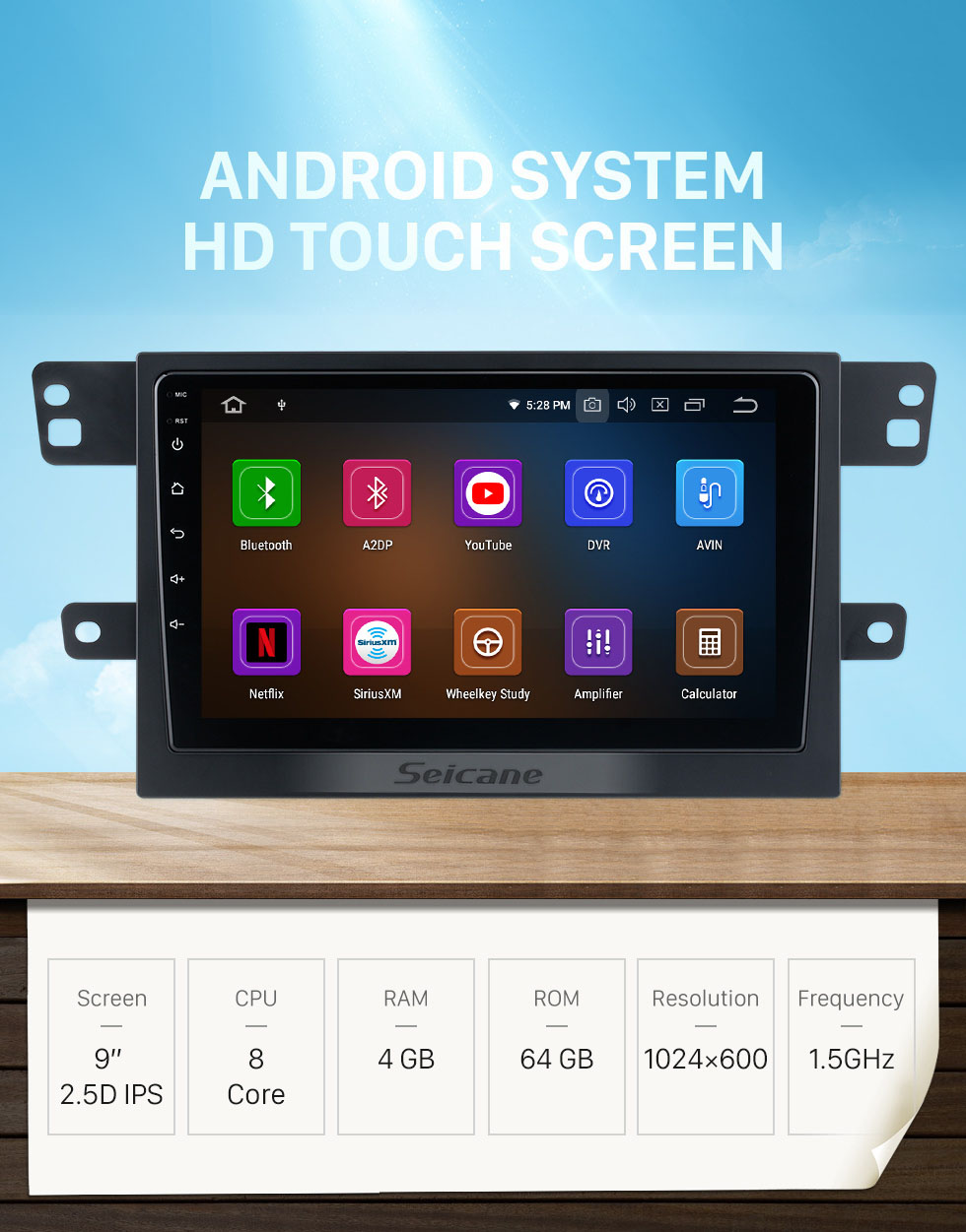 Seicane Android 10.0 For 2017 MAXUS T60 Radio 9 inch GPS Navigation System with Bluetooth HD Touchscreen Carplay support DSP