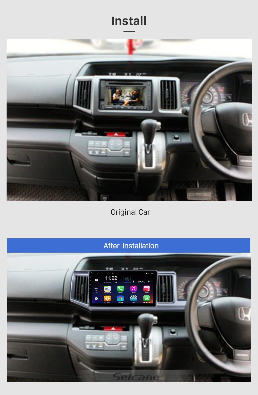 Seicane HD Touchscreen 9 polegadas para 2018 Honda Elysion Radio Android 10.0 Sistema de Navegação GPS com suporte Bluetooth Carplay